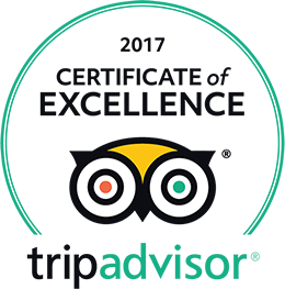 Trip Avisor Certificate of Excellence 2017